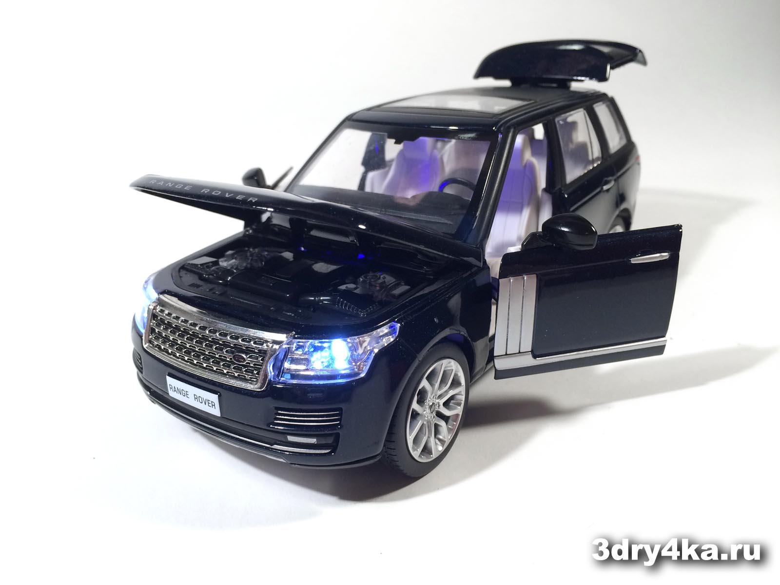 Масштабная модель Land Rover Range Rover Voque темная ночь IDEAL  (масштаб 1:24)