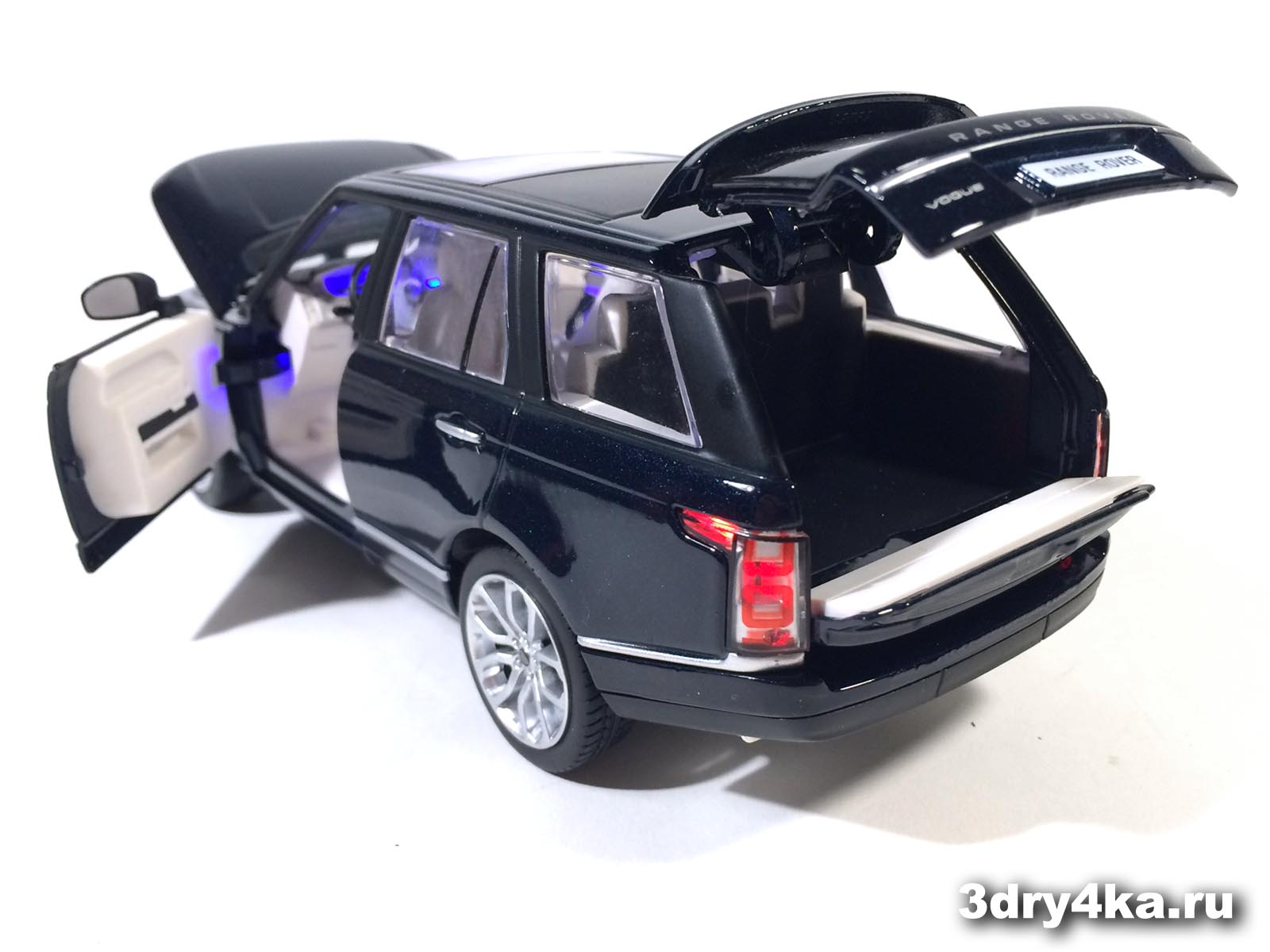 масштабная модель Land Rover Range Rover Voque темная ночь вид сзади IDEAL  (масштаб 1:24)